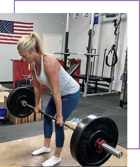 strength and movement image of woman lifting weight